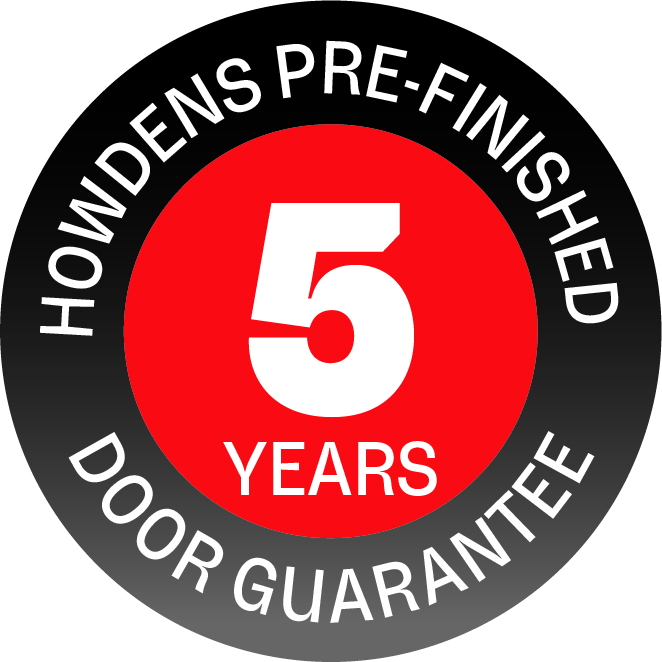 Howdens pre-finished doors 5 year guarantee