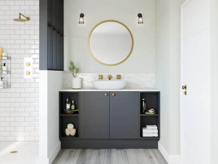 Greenwich Super Matt grey bathroom