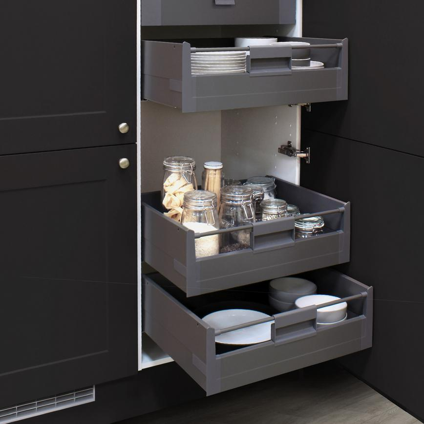 Larder Tower with Internal Drawers Anthracite