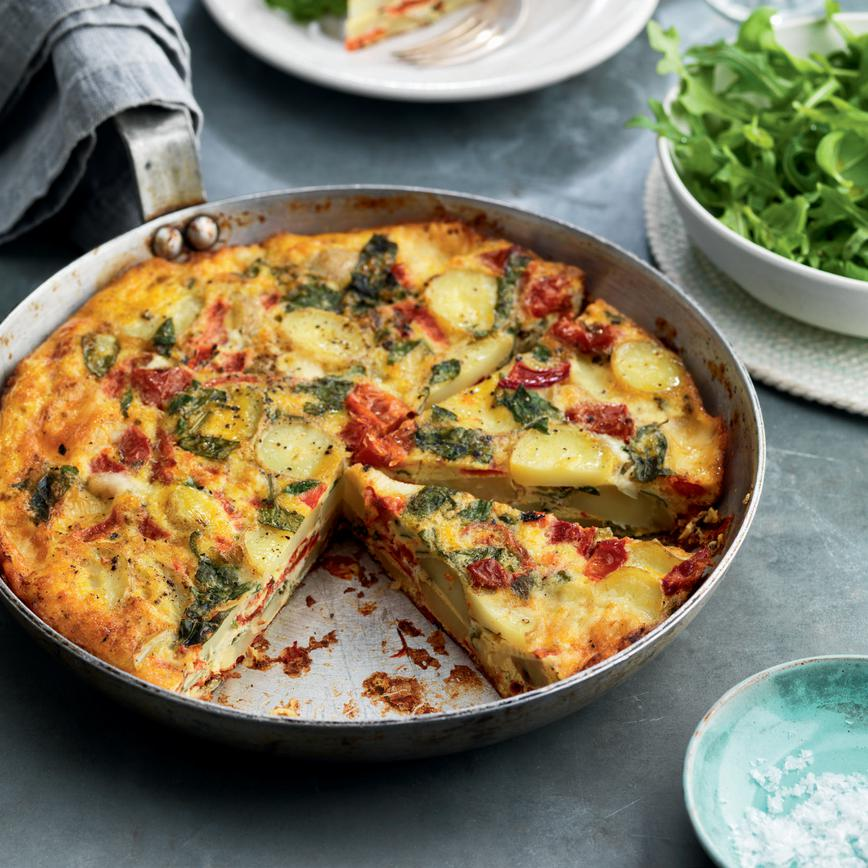 Roasted-pepper-taleggio-and-sun-blushed-tomato-fritatta
