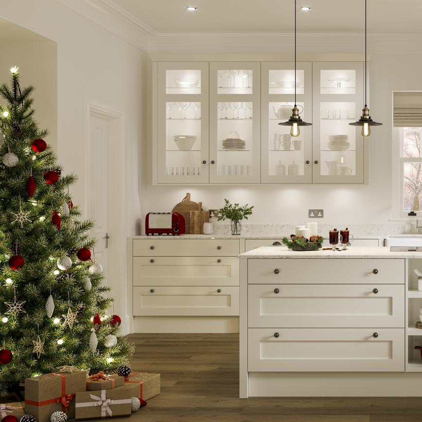 Chilcomb Porcelain Christmas Kitchen