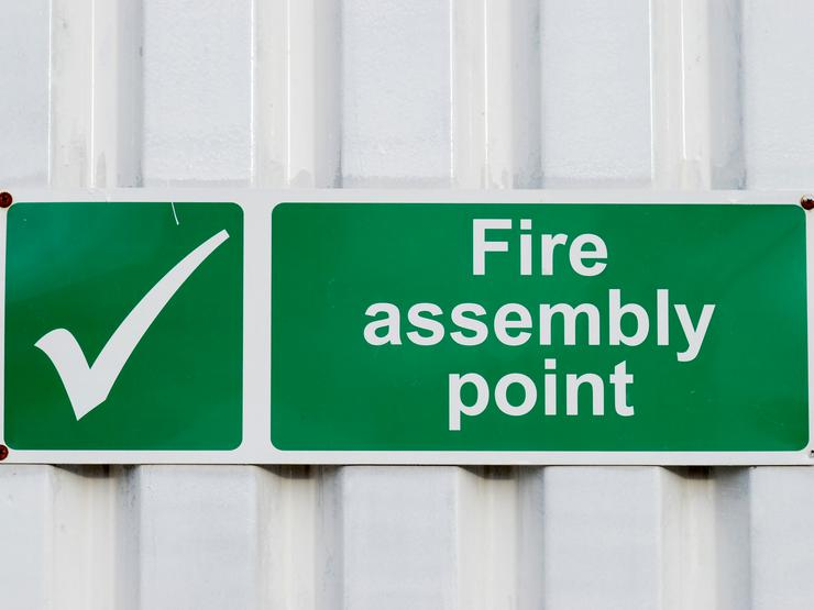 Fire Assembly Point Stock Image