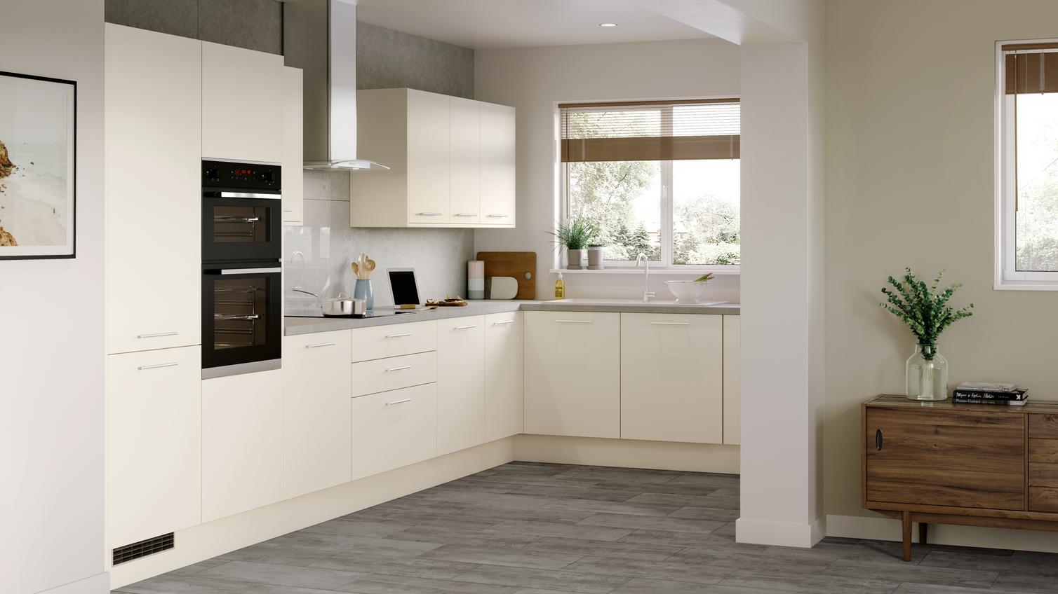 Greenwich Ivory Kitchen Fitted Kitchens Howdens