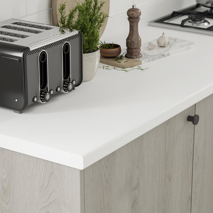 Greenwich Light Grey Oak Worktop Corner