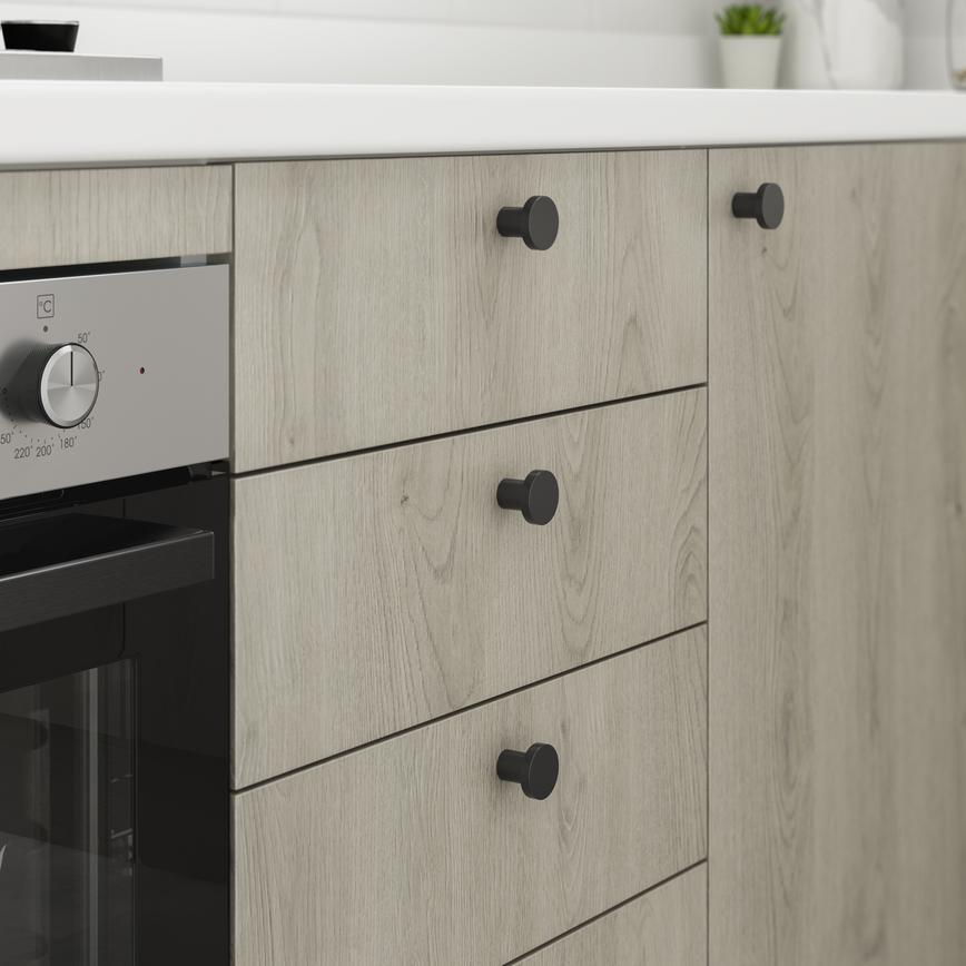 Greenwich light grey oak handles cameo