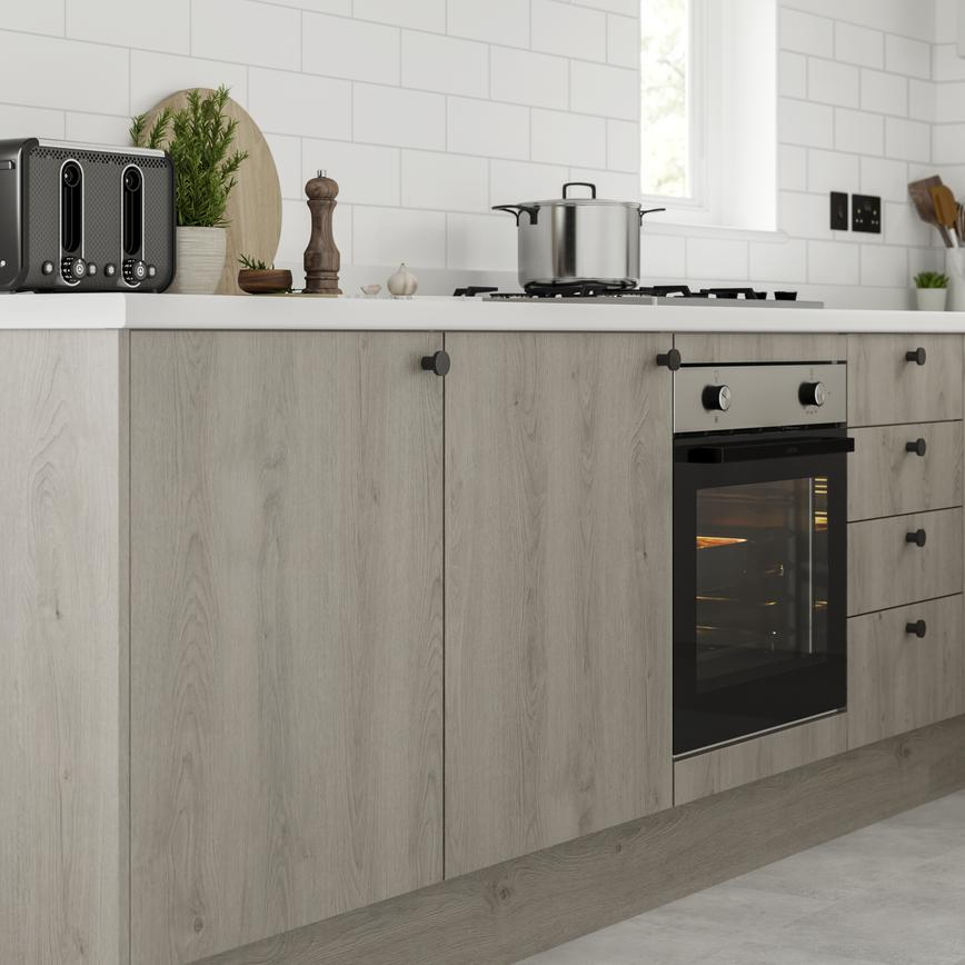 Greenwich light grey oak bank of frontals