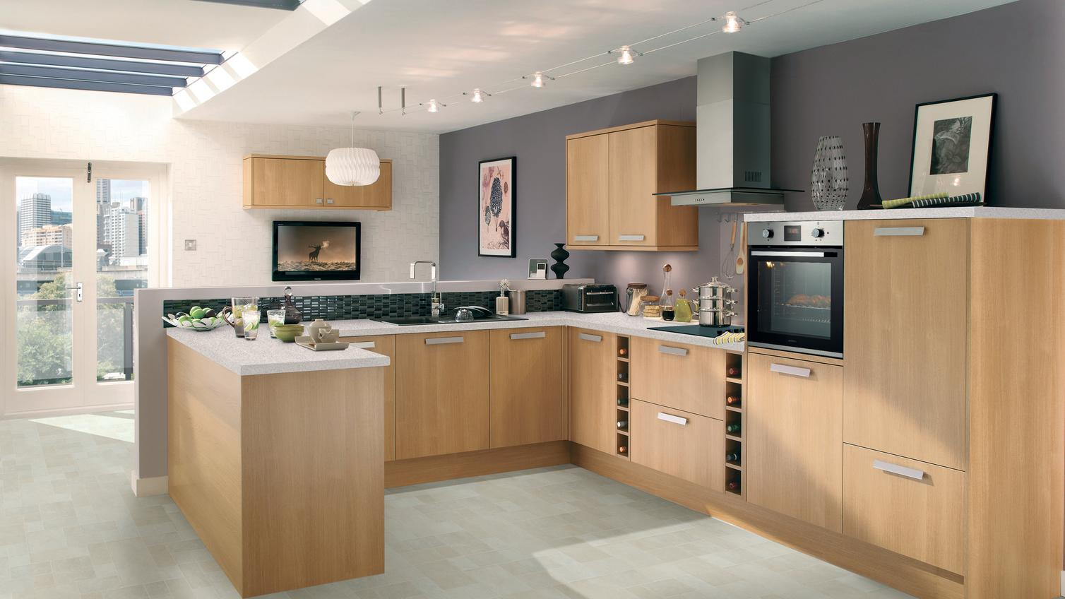 Greenwich Light Oak Kitchen Fitted Kitchens Howdens