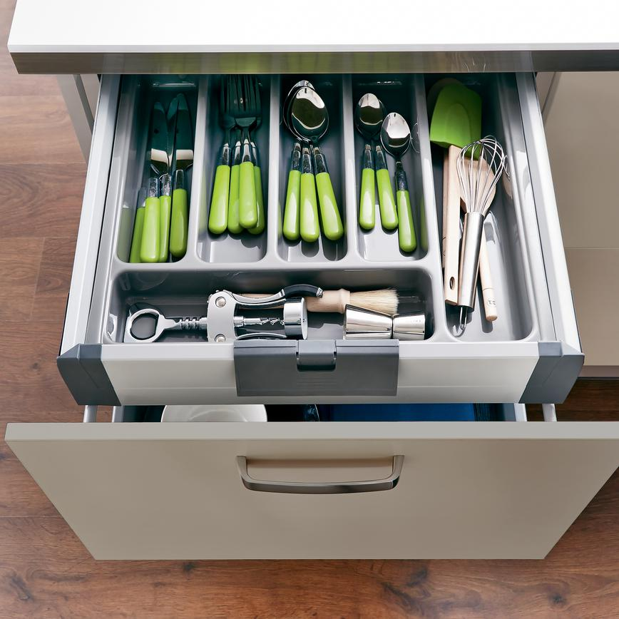 Internal Storage Drawer with Cutlery Tray