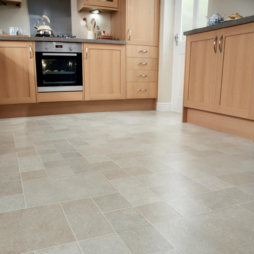 Howdens Professional Continuous Light Stone Tile Effect