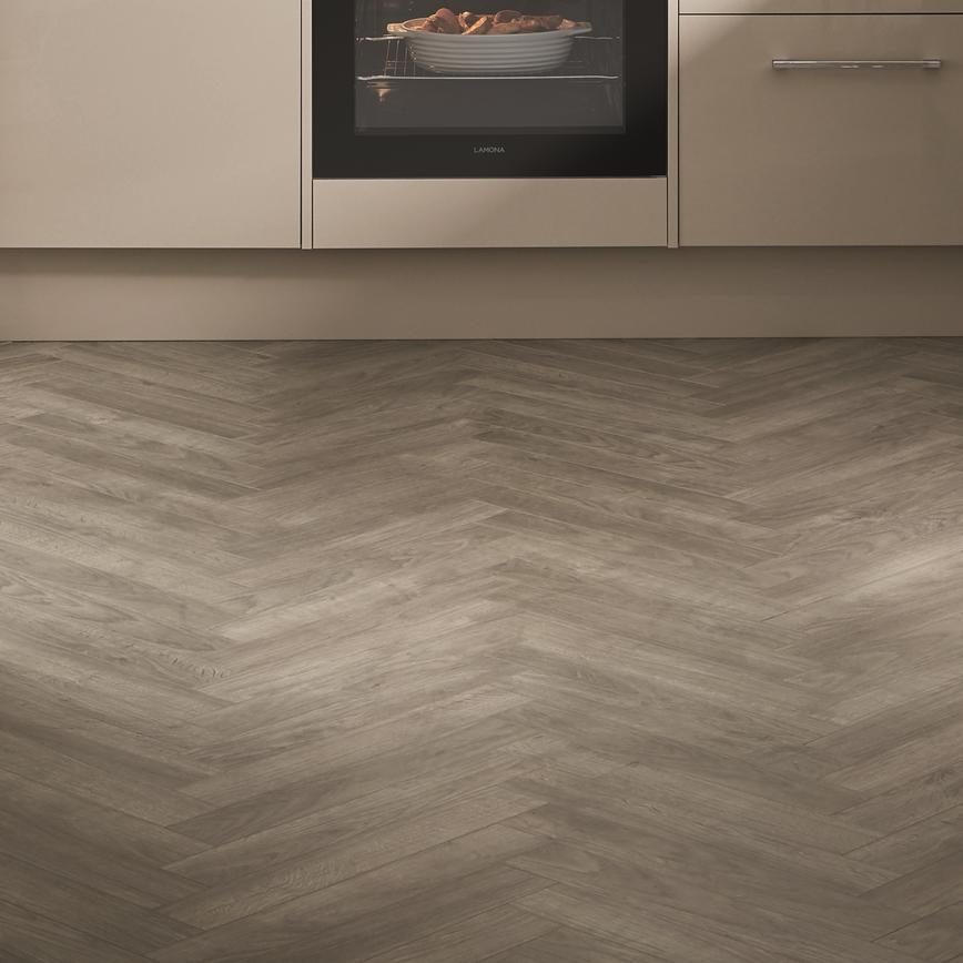 Greenwich Gloss Cashmere chevron flooring