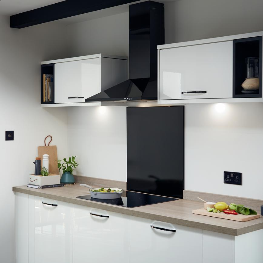 Greenwich Gloss White Hob Area 1