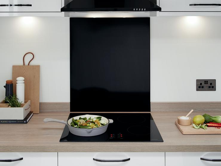 Greenwich Gloss White Hob Area 2