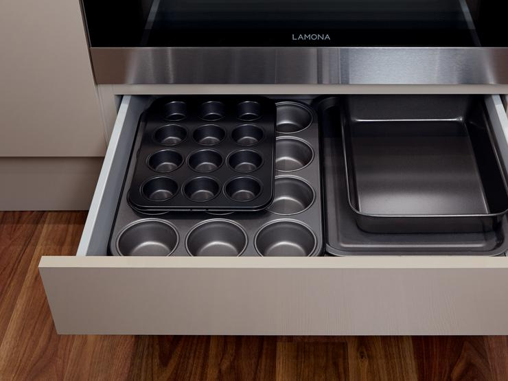 Built-Under Oven Housing with Shallow Storage Drawer (Greenwich Gloss Stone)