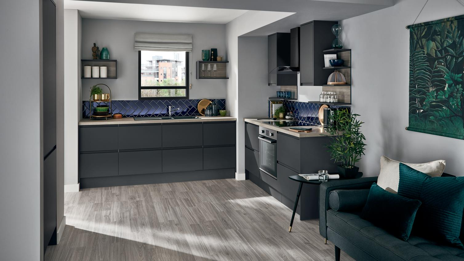 Clerkenwell Super Matt Graphite Kitchen Fitted Kitchens