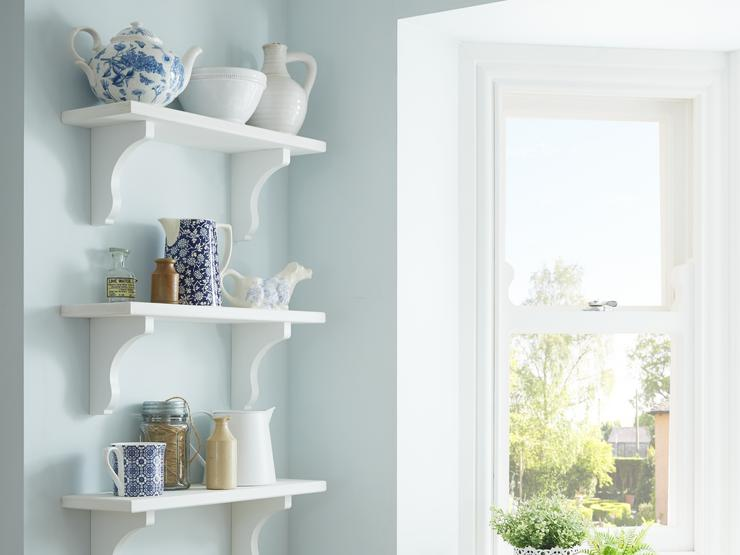 Bespoke Shelving with Corbels (Burford Tongue & Groove White)