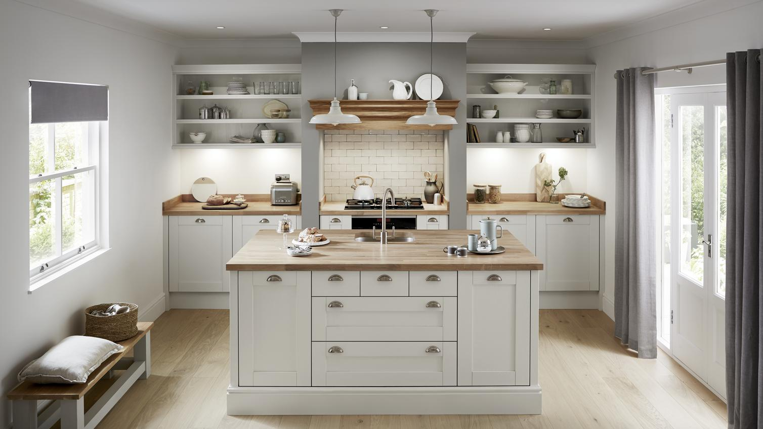 Tewkesbury Dove Grey Kitchen Fitted Kitchens Howdens
