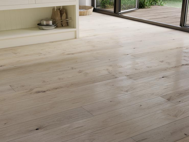 Tewkesbury Antique White Engineered Real Wood Pre-Finished Fast Fit Light White Oak Flooring