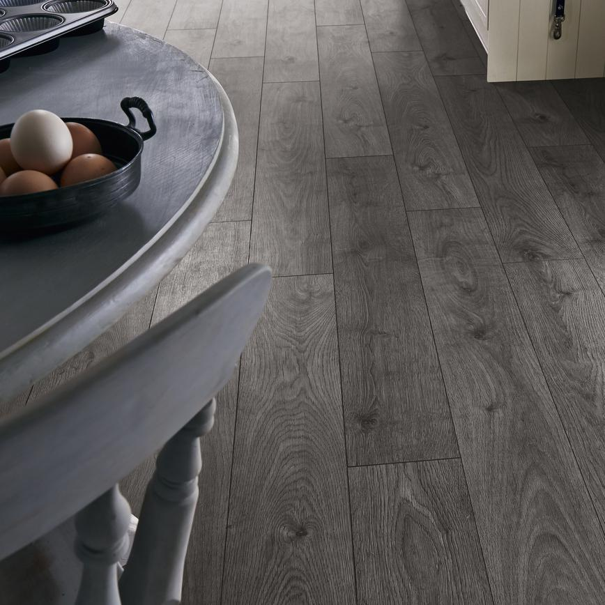 Howdens Professional Fast Fit V Groove Dark Grey Oak
