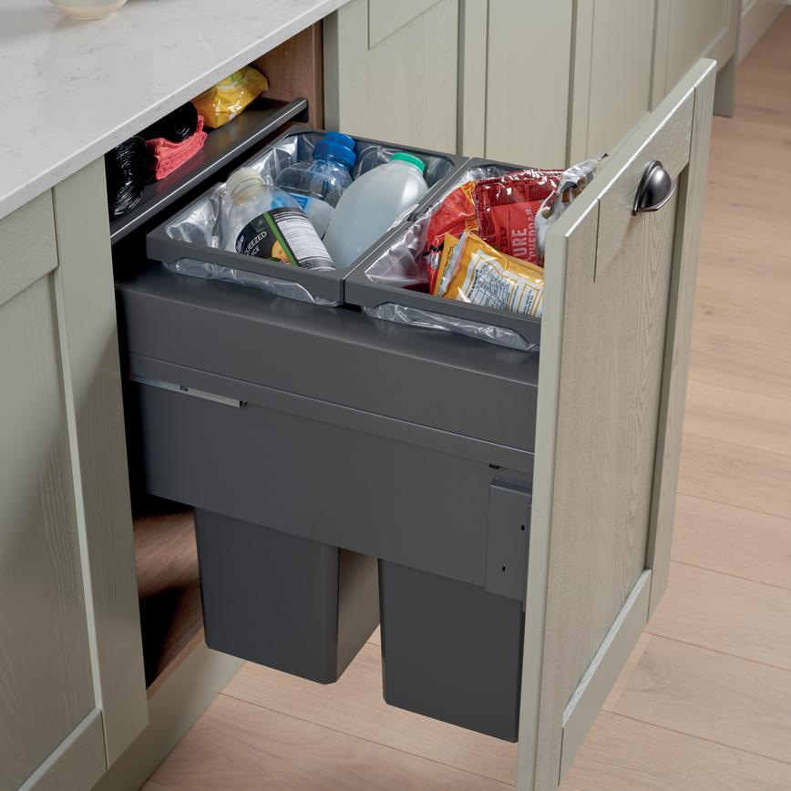 64L Integrated Recycling Bin