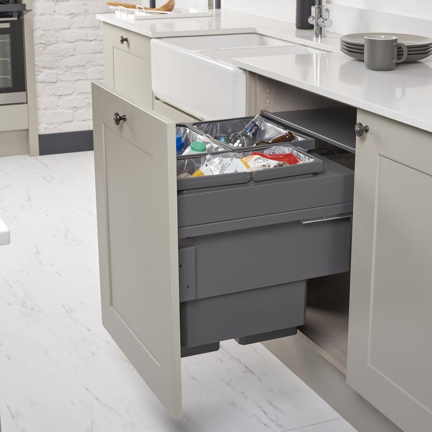 Chelford Pebble 85L Integrated Recycling Bin