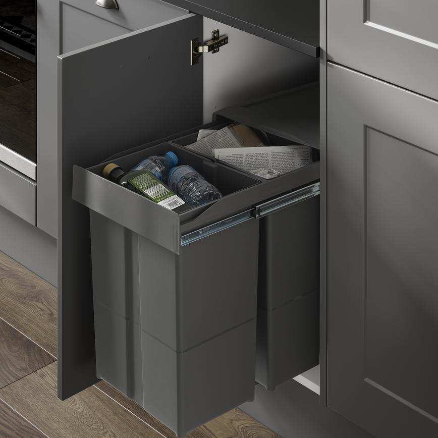 58L pull-out recycling bin