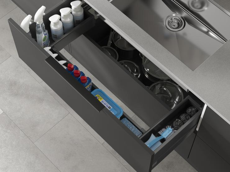 1000mm sink base drawer pack
