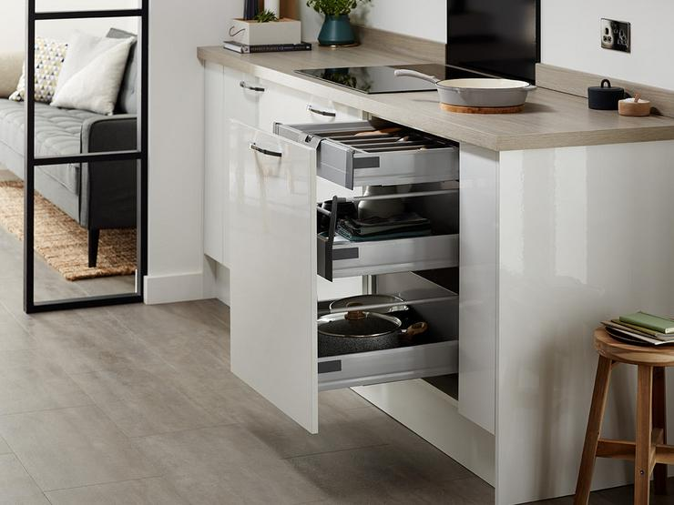 Greenwich Gloss White Cutlery Drawer 1