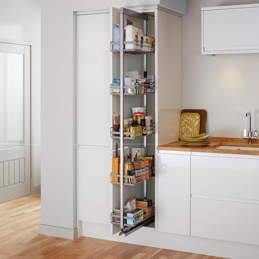 Pre-fitted Standard Full Height Pull Out Larder Unit