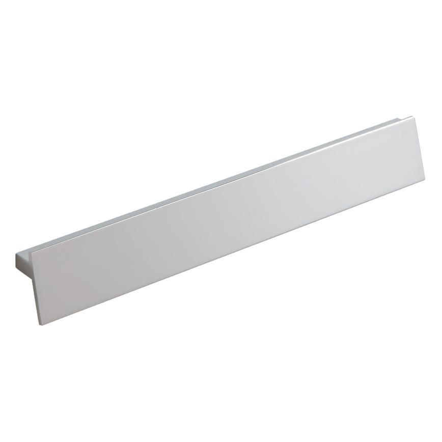 Angled Polished Chrome Bar Cupboard Handle 235mm