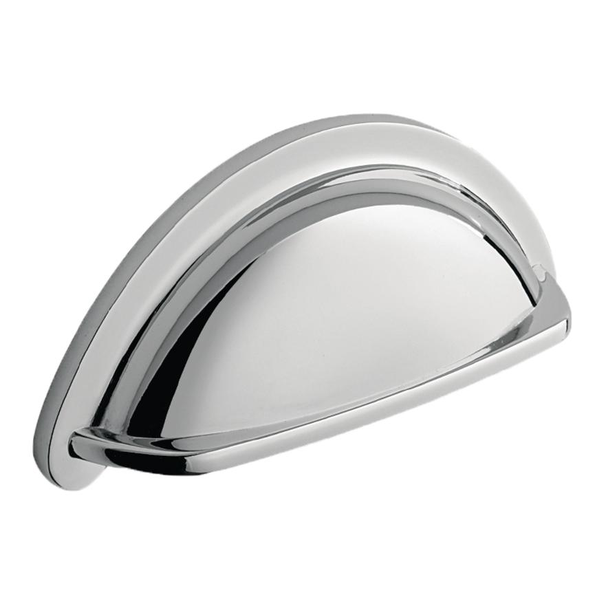 chrome effect cup handle