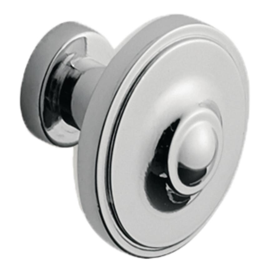 Polished Chrome Round Cupboard Door Knob