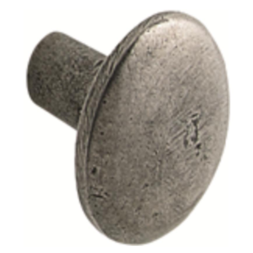 Antique Pewter Round Cupboard Door Knob 30mm