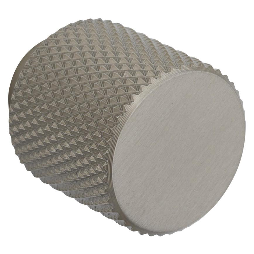 Brushed Nickel Knurled Round Knob Handle