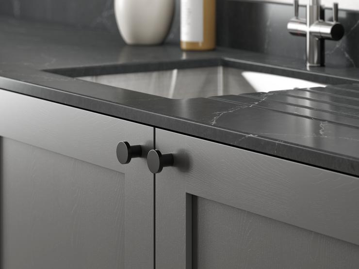 Black contemporary knob