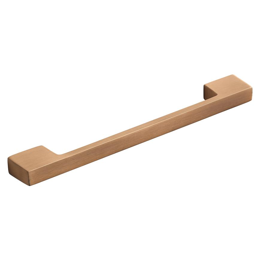 Brushed_Copper_Bar Handle_185mm_Angled