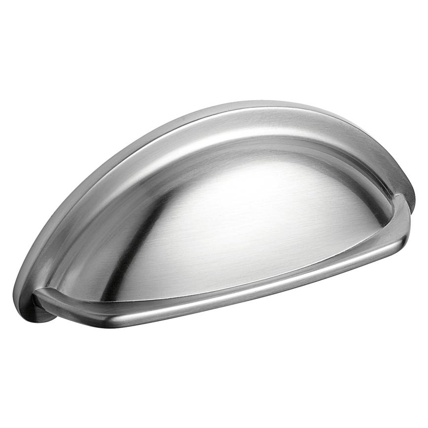 Brushed Nickel Cup Cupboard Handle 94mm