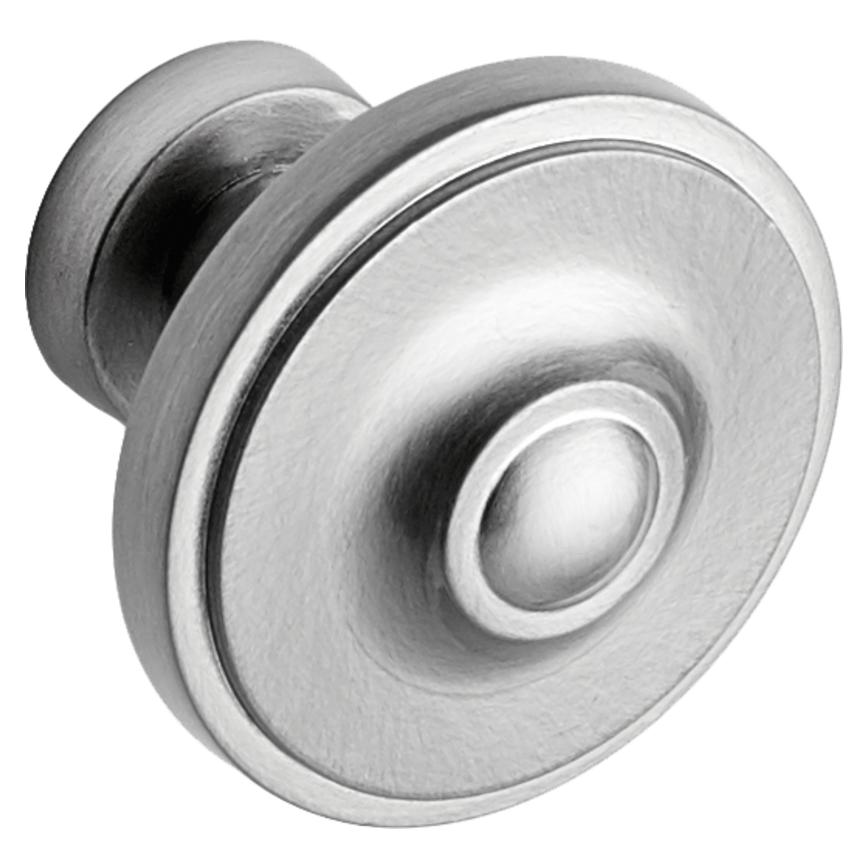Brushed Nickel Round Cupboard Door Knob 33mm