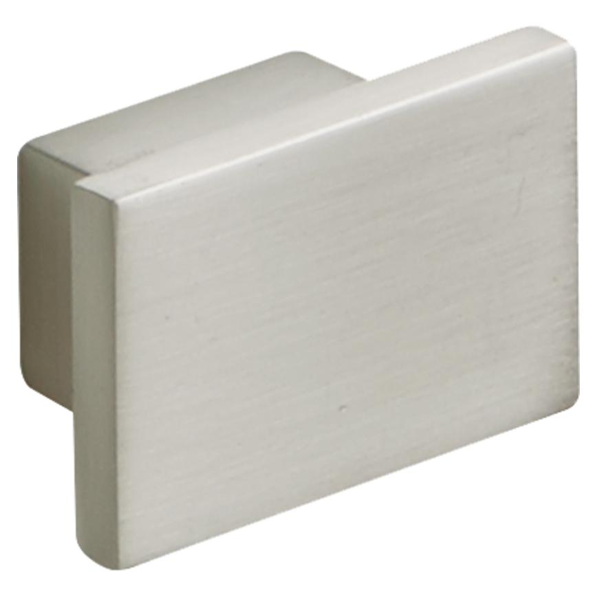Brushed Steel Effect Square Knob