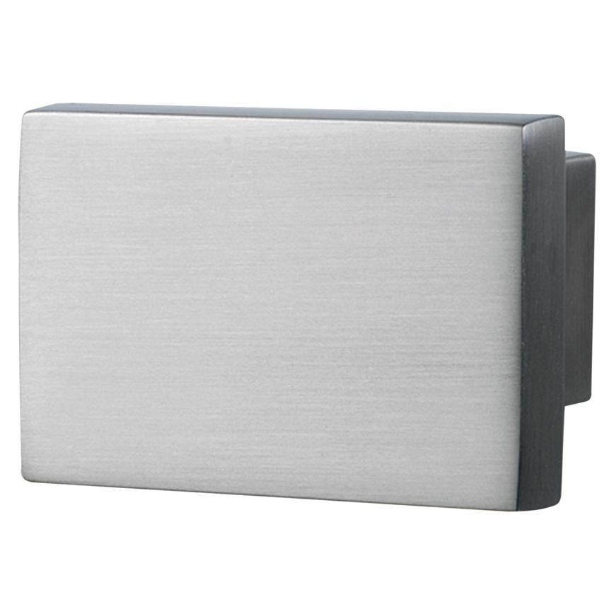 Brushed Steel Square Cupboard Door Knob