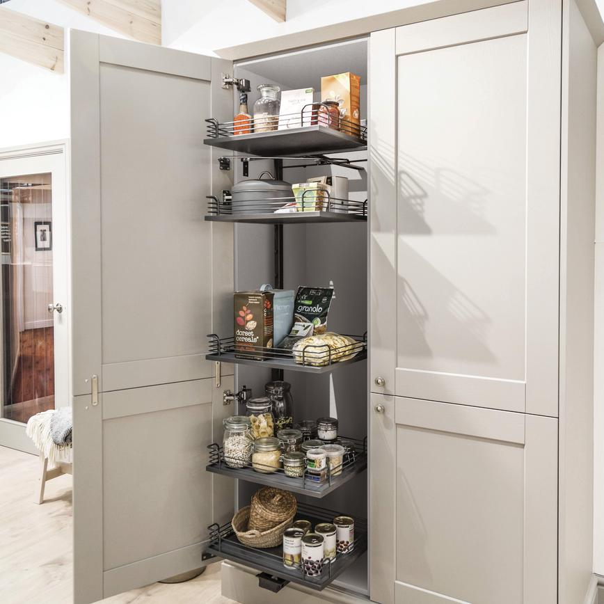 White 600 Full-Height Swing Forward Larder