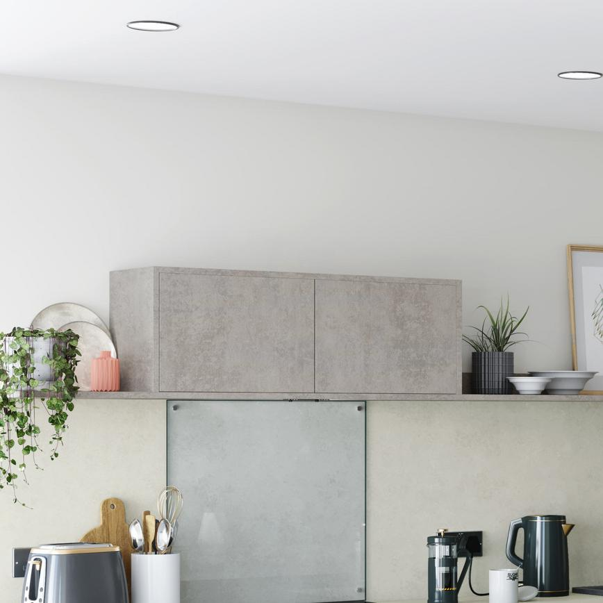 Greenwich Super Matt Charcoal with Concrete Wall Cabinets