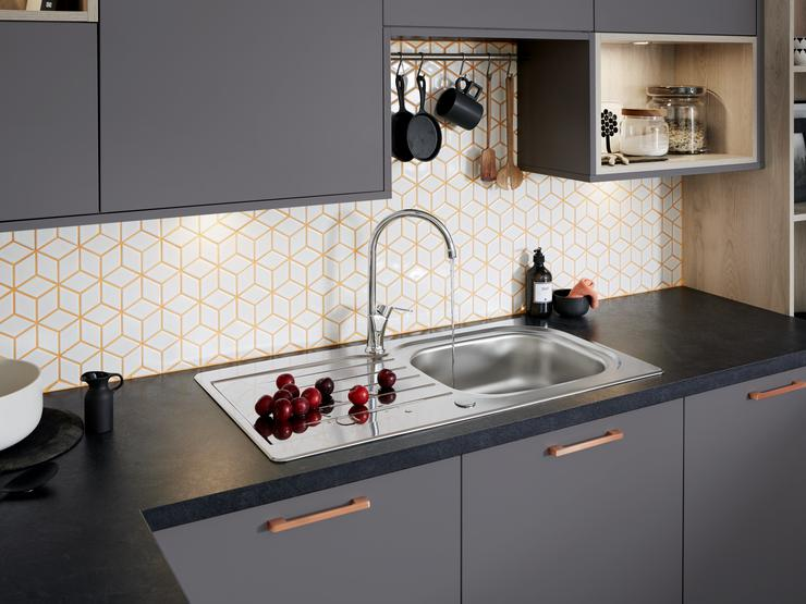 Greenwich Super Matt Graphite SInk & Tap 2 RT1