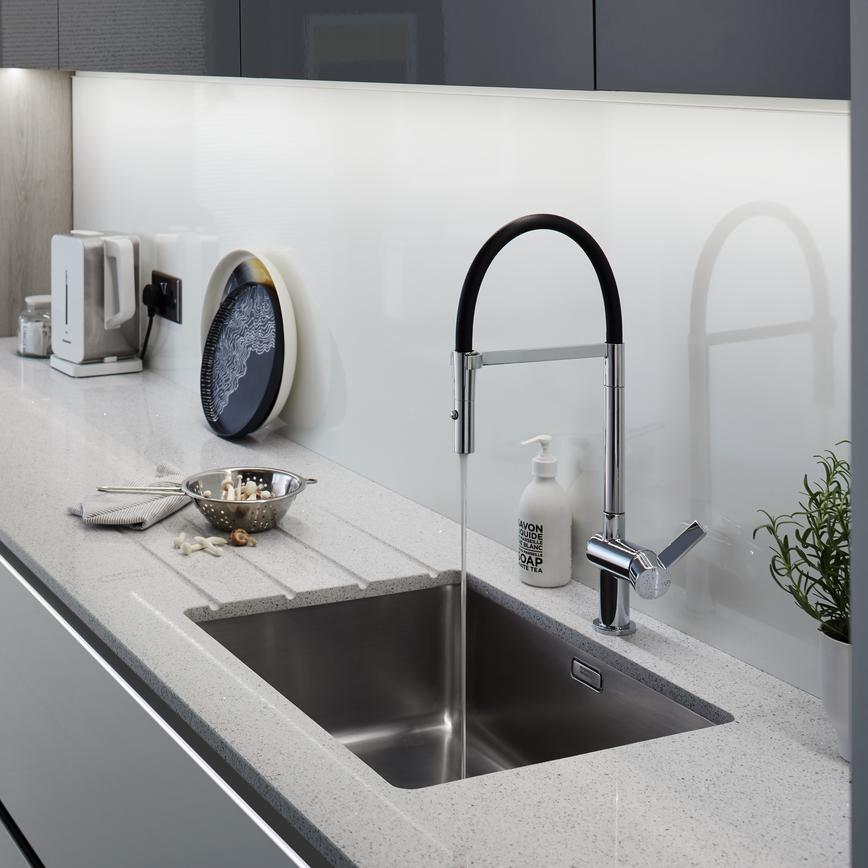 Balham Grey Sink & Tap 2 RT1