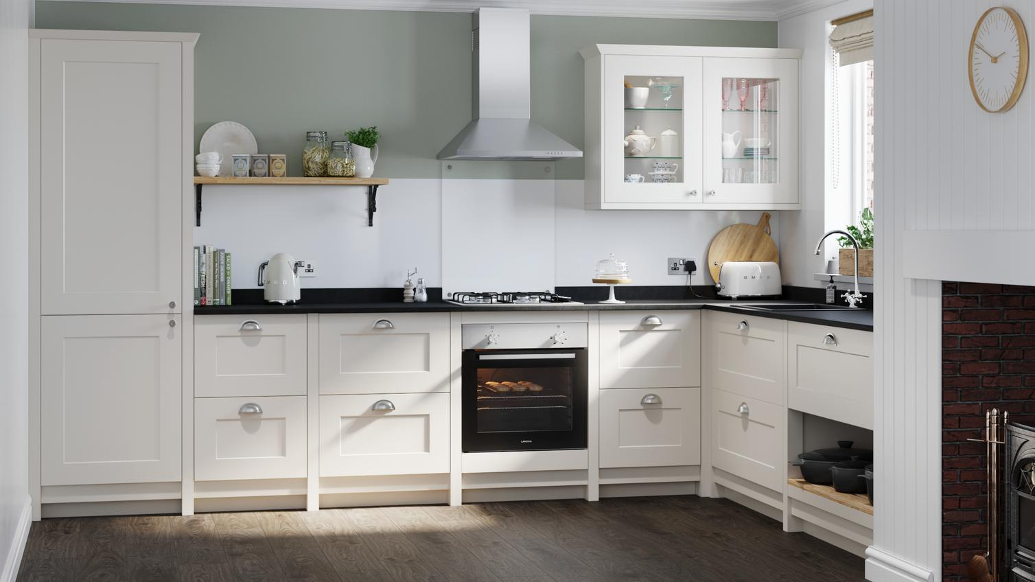 Chelford Ivory Kitchen Fitted Kitchens Howdens
