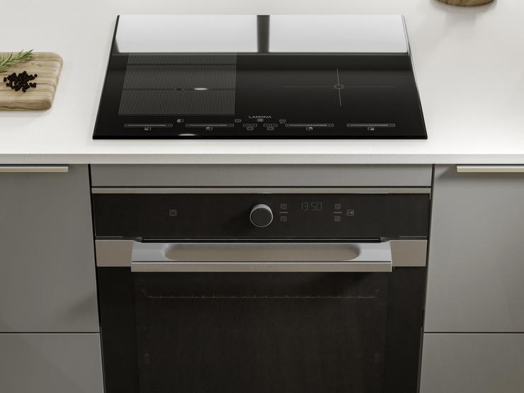 Hockley Mirror Gloss Slate Grey and Dove Grey Oven