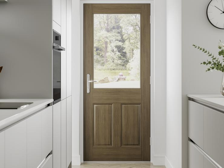 Hockley Super Matt Dove Grey Handleless Door Cameo