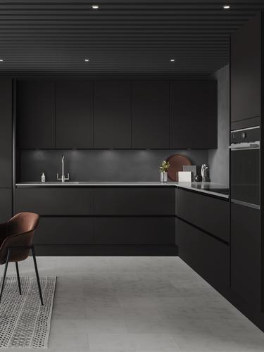 Hockley Super Matt Charcoal Handleless Kitchen Fitted Kitchens Howdens