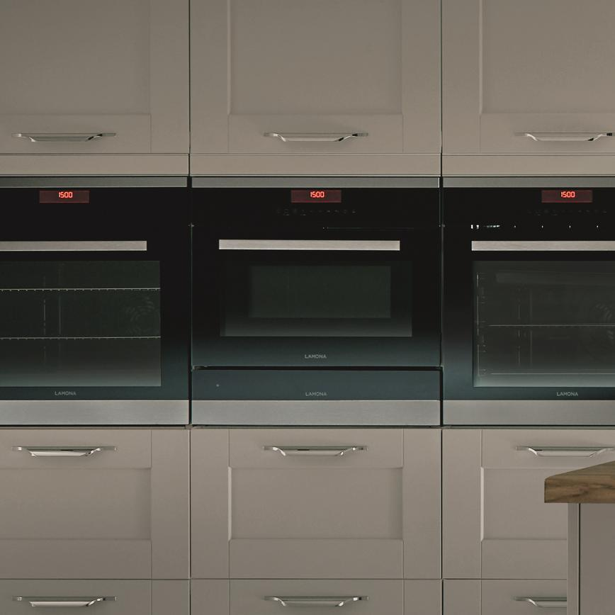 Fairford Dove Grey wall oven trio