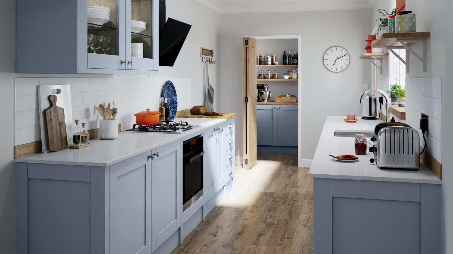 Fairford Blue Kitchen Fitted Kitchens Howdens