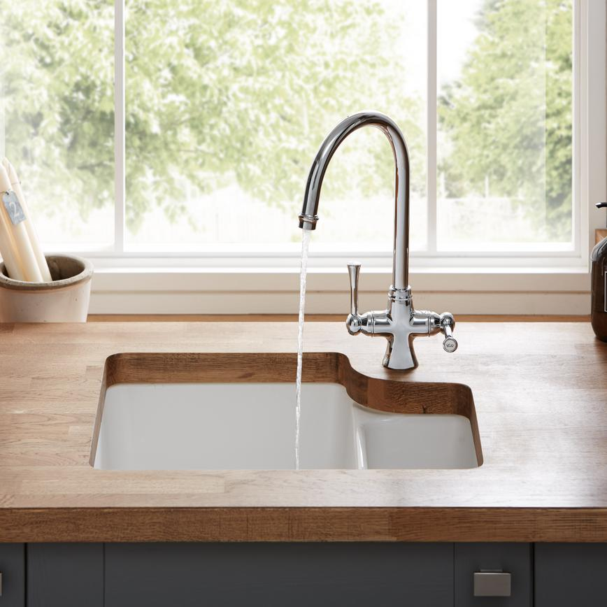 Fairford Slate Grey SInk & Tap 4 RT non routed edge